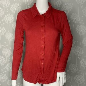 Anthropologie Postmark Shirt Size Small Rust Red